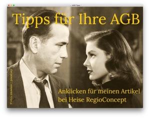 Tipps für AGB Allgemeine Geschäftsbedingungen